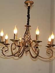 cheap -Retro/Vintage Chandelier For Living Room Bedroom Dining Room AC 220-240 AC 110-120V Bulb Not Included White
