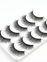 cheap -5 Daily Makeup Full Strip Lashes Crisscross Thick Natural Long Makeup Tools High Quality Daily