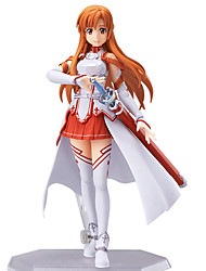 cheap -Anime Action Figures Inspired by Sword Art Online Asuna Yuuki PVC 13 CM Model Toys Doll Toy