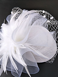 cheap -Net Fascinators Hats Headwear Birdcage Veils with Floral 1pc Wedding Special Occasion Headpiece