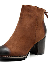 Women's Shoes Fur Fall Winter Fashion Boots Bootie Combat Boots Boots Chunky Heel Booties/Ankle Boots For Casual Party & Evening Coffee