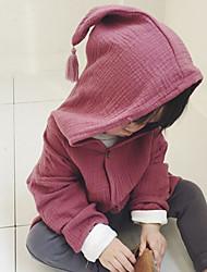preiswerte -Mädchen Anzug & Blazer einfarbig Baumwolle Frühling Lange Ärmel