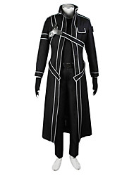 cheap -Inspired by Sword Art Online SAO Kirito Swordman Anime Cosplay Costumes Cosplay Suits Solid Coat Shirt Pants Gloves For Male Female