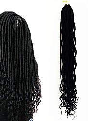 cheap -Dread Locks Hair Braid Curly Ombre Braiding Hair 100% Kanekalon Hair Black/Burgundy Black/Strawberry Blonde Burgundy Medium Auburn