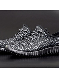 preiswerte -Herren Schuhe Leinwand Komfort Walking für Normal Weiß Schwarz Grau Blau
