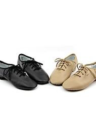 Men's Jazz Cowhide Heel Training Low Heel Black Brown Customizable