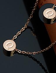 preiswerte -Personalisierte Geschenke Halskette Titanstahl Damen Einfach Rund Geometrisch Natur inspirierter Stil Aktiv Grundlegend Modisch Geschenk
