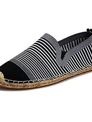 abordables -Homme Chaussures Tulle Printemps Automne Confort Mocassins et Chaussons+D6148 Pour Décontracté Blanc Noir Rouge