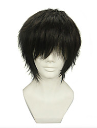 cheap -Cosplay Wigs Blue Exorcist Juzo Shima Black Short Anime Cosplay Wigs 30 CM Heat Resistant Fiber Male