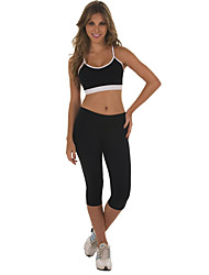 cheap -Women's Daily Sporty Legging - Solid Colored Mid Waist / Spring / Summer / Fall / Sporty Look / Skinny