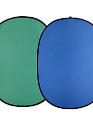 andoer 1.5 * 2.0m nylon pliable bleu&fond de toile de fond vert (2in1) pour photo& photographie de studio vidéo