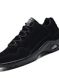 Homme Chaussures Croûte de Cuir Automne Hiver Confort Semelles Légères Chaussures d'Athlétisme Course à Pied Pour Athlétique Décontracté