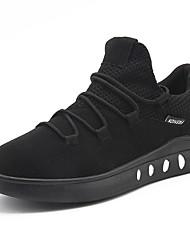 Homme Chaussures Tricot Printemps Automne Confort Basket Boucle Pour Décontracté Soirée & Evénement Noir Gris Noir et Or Rouge Noir/blanc
