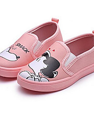 Girls' Shoes Canvas Spring Fall Comfort Loafers & Slip-Ons For Casual Light Blue Blushing Pink Yellow