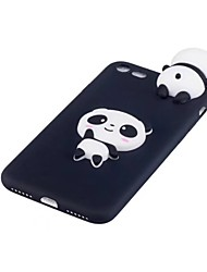 "economico -Custodia Per Apple iPhone X Resistente agli urti Custodia posteriore Panda Fantasia ""Cartone 3D"" Morbido TPU per iPhone X iPhone 8 Plus"