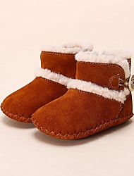 Baby Shoes Cowhide Winter First Walkers Boots for Casual Purple Pink Camel