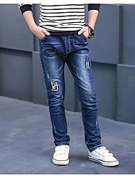 Boys' Geometric Pants,Others Fall Blue