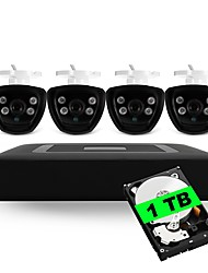cheap -4CH 5-in-1 Built-in 1TB HDD DVR Kits 4pcs Waterproof IR Night Vision Bullet CCTV Camera Security System