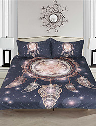 cheap -Duvet Cover Sets Bohemian / Reactive Print 3 Piece