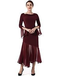 cheap -SUOQI Women's Casual Bodycon Swing Dress - Solid Colored, Split Maxi Cowl Neck