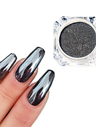 cheap -0.5g/Bottle Black Mirror Effect Decoration 3D Nail Art Glitter