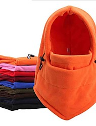 cheap -Unisex Fall Winter Balaclava Multifunctional Velvet Mountain Cycling Camping / Hiking Camping Mountaineering Winter Sports Solid