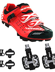cheap -BOODUN/SIDEBIKE® Mountain Bike Shoes Cycling Shoes With Pedal & Cleat Men's Wearable Sporty Synthetic Microfiber PU EVA Mountain Cycling