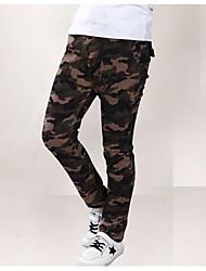 Boys' Print Pants,Polyester Fall Brown Light Brown