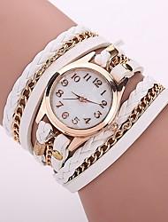 Недорогие -Жен. Модные часы Часы-браслет Повседневные часы Китайский Кварцевый PU Группа Богемные Повседневная Элегантные часы Черный Белый Синий