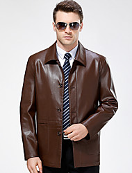 cheap -Men's Daily Vintage Fall Winter Leather Jackets