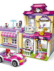 cheap -ENLIGHTEN Building Blocks Model Building Kit 734 pcs House Superstar Training Center New Design DIY Classic Classic & Timeless Chic & Modern Boys' Girls' Toy Gift