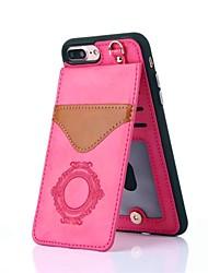 Недорогие -Кейс для Назначение Apple iPhone X iPhone 8 Бумажник для карт со стендом С узором Кейс на заднюю панель Кружева Печать Твердый Настоящая
