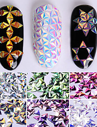 cheap -0.7g Unicorn AB Color Nail Sequins Chameleon Triangle Iridescent Flakies 6 Colors 3D Nail Art Decoration Manicure Tips