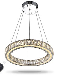 Недорогие -Подвесные лампы Рассеянное освещение Электропокрытие Металл Хрусталь, Лампочки включены, Регулируется 110-120Вольт / 220-240Вольт Диммируемый с дистанционным управлением / Интегрированный светодиод