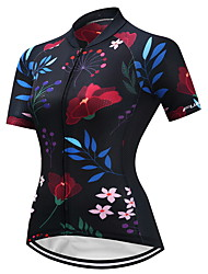 FUALRNY® Cycling Jersey Women's Short Sleeves Bike Jersey Anti-Slip Fast Dry Quick Dry Breathability High Elasticity Coolmax LYCRA®