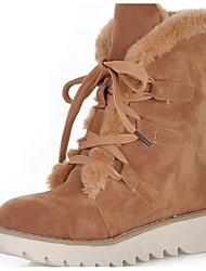 Femme Chaussures Cuir Nubuck Hiver Automne Bottes de neige Bottes Bottes Mi-mollet Pour Décontracté Noir Beige Jaune Marron Rose