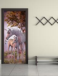 Недорогие -Известные картины Пейзаж 3D Наклейки Простые наклейки 3D наклейки Декоративные наклейки на стены 3D, Бумага Украшение дома Наклейка на