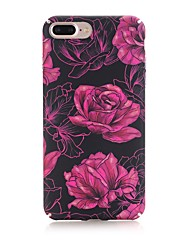 economico -Custodia Per Apple iPhone X iPhone 8 Effetto ghiaccio Fantasia/disegno Custodia posteriore Fiore decorativo Resistente PC per iPhone X