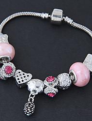 preiswerte -Damen Strang-Armbänder Strass Modisch Aleación Schmuck Alltag Modeschmuck Rosa