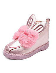 Girls' Shoes PU Winter Snow Boots Boots Booties/Ankle Boots For Casual Blushing Pink Gray Black