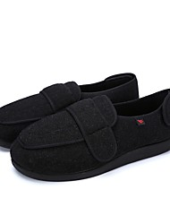 cheap -Men's Shoes Wool Winter Comfort Loafers & Slip-Ons Magic Tape for Casual Black Army Green