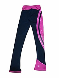 cheap -Figure Skating Pants Women's Girls' Ice Skating Pants / Trousers Tracksuit Stretchy Performance Practise Skating Wear Stripe Ice Skating