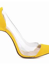 preiswerte -Damen Schuhe Nubukleder Frühling Herbst Pumps High Heels Stöckelabsatz Für Normal Schwarz Gelb Fuchsia Rot Grün