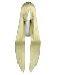 economico -Donna Molto lungo Kinky liscia Giallo Manga Parrucca Cosplay Parrucca per travestimenti