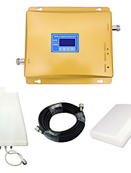cheap -LCD Display Mobile Phone 800mhz 850mhz 1800mhz Signal Booster CDMA DCS Signal Repeater Amplifier with Panel Antenna / Log Periodic Antenna / Golden