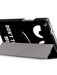 Недорогие -Кейс для Назначение Huawei Чехол планшетный случаи С принтом Твердый Кожа PU для