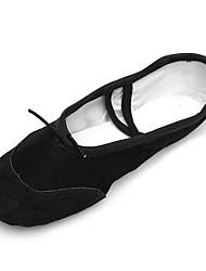 """cheap -Kids' Ballet Canvas Leatherette Practice Platform Black Under 1"""" Customizable"""