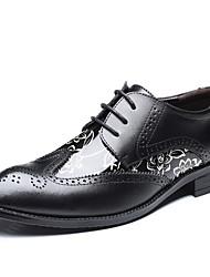 baratos -Homens Sapatos formais Couro / Pele Primavera / Verão Oxfords 3D Preto / Amarelo / Marron