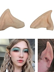 Fairy Pixie Elf Ears Cosplay Accessories LARP Halloween Party Latex Soft Pointed Prosthetic Tips Ear