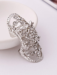 cheap -Women's Rhinestone Rhinestone / Alloy Knuckle Ring - Geometric Silver Ring For Party / Stage